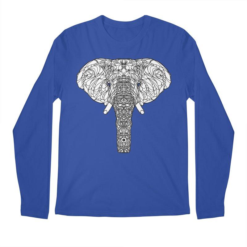 The Majestic Elephant Men's Longsleeve T-Shirt by exiledesigns's Artist Shop