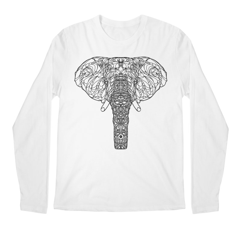 The Majestic Elephant Men's Longsleeve T-Shirt by exiledesigns's Artist Shop