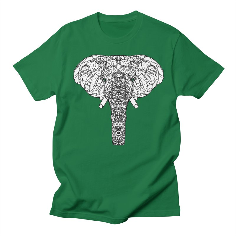 The Majestic Elephant Men's T-shirt by exiledesigns's Artist Shop