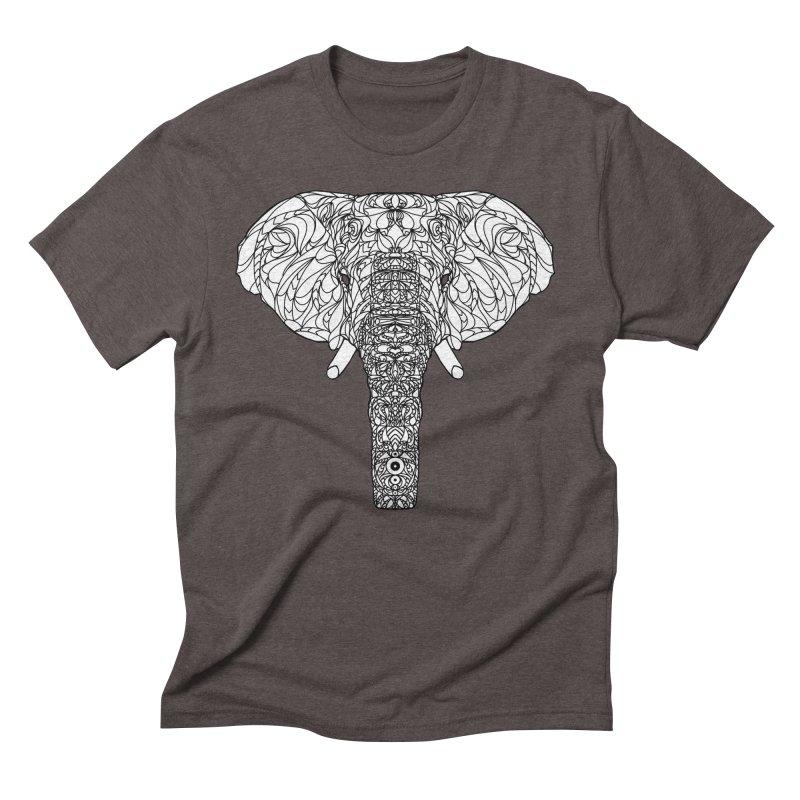The Majestic Elephant Men's Triblend T-Shirt by exiledesigns's Artist Shop