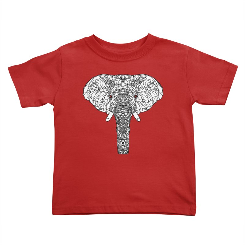 The Majestic Elephant Kids Toddler T-Shirt by exiledesigns's Artist Shop