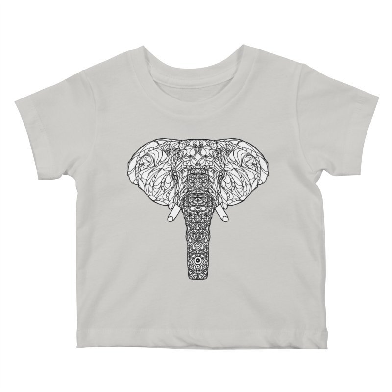 The Majestic Elephant Kids Baby T-Shirt by exiledesigns's Artist Shop