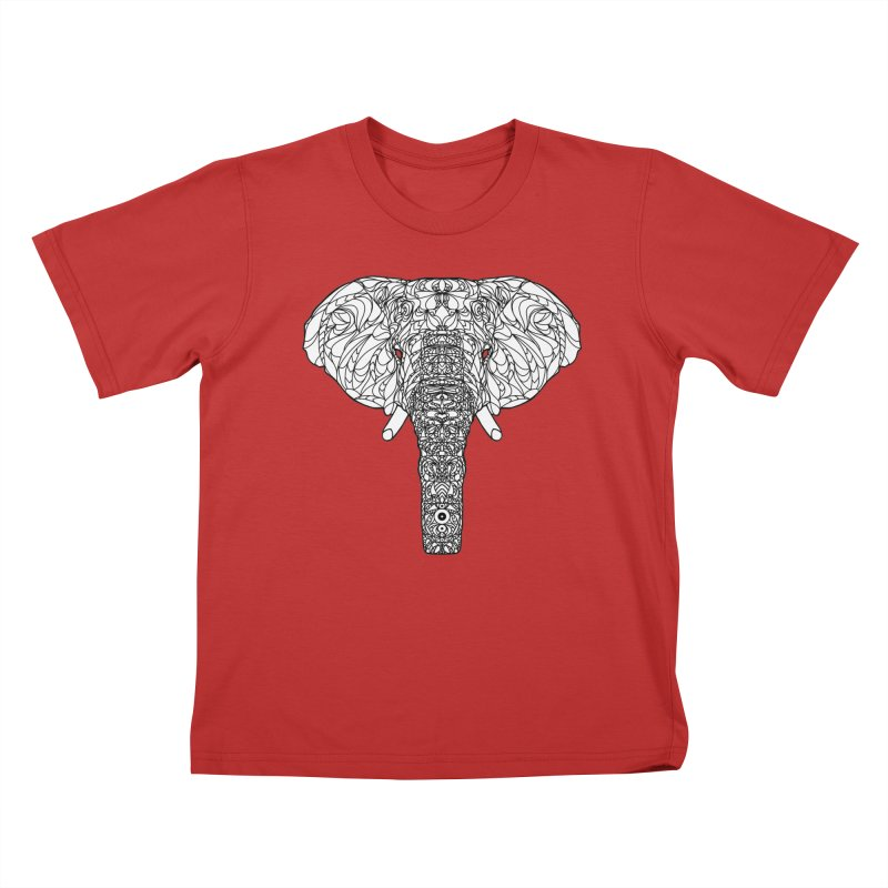 The Majestic Elephant Kids T-Shirt by exiledesigns's Artist Shop