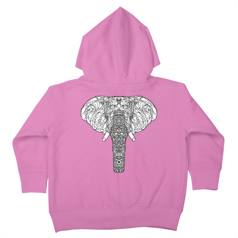 The Majestic Elephant Kids Toddler Zip-Up Hoody by exiledesigns's Artist Shop