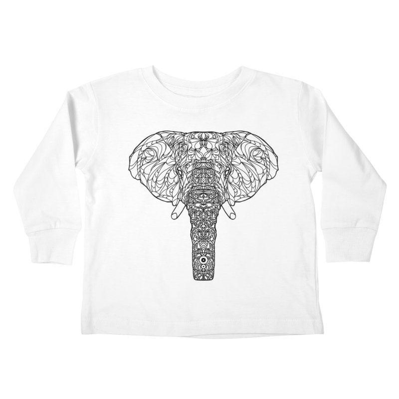 The Majestic Elephant Kids Toddler Longsleeve T-Shirt by exiledesigns's Artist Shop