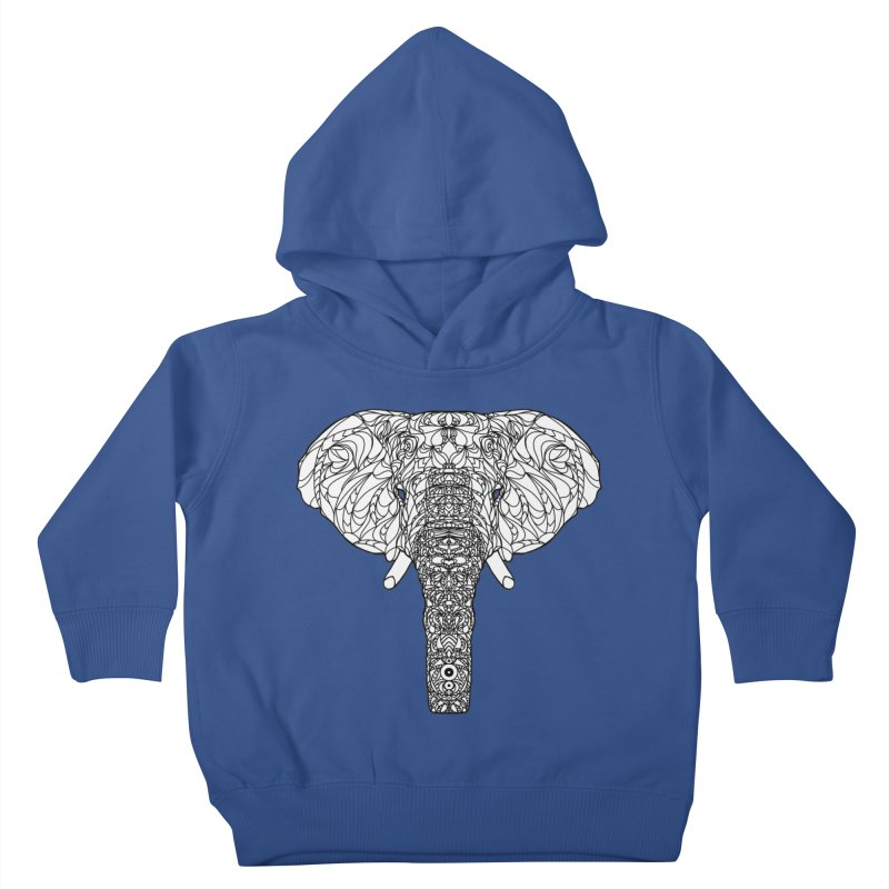 The Majestic Elephant Kids Toddler Pullover Hoody by exiledesigns's Artist Shop