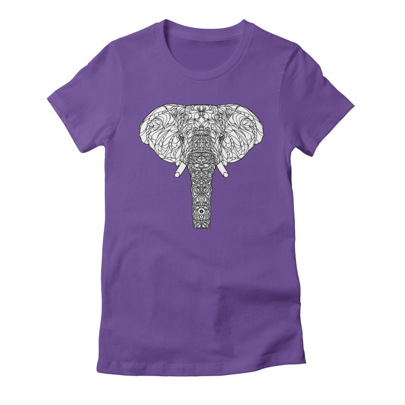 The Majestic Elephant Women's Fitted T-Shirt by exiledesigns's Artist Shop