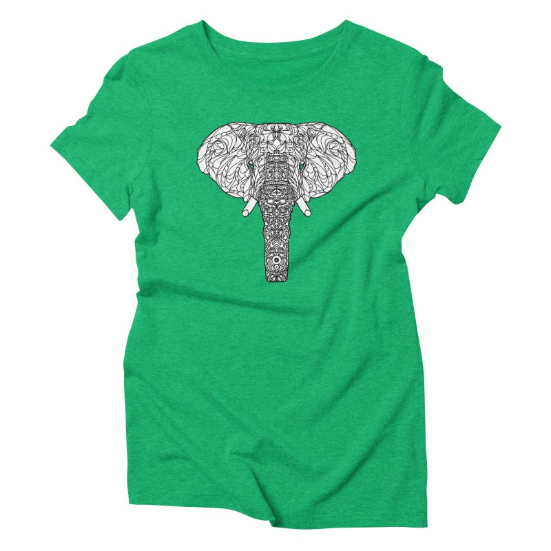 The Majestic Elephant Women's Triblend T-shirt by exiledesigns's Artist Shop