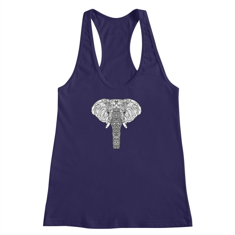 The Majestic Elephant Women's Racerback Tank by exiledesigns's Artist Shop