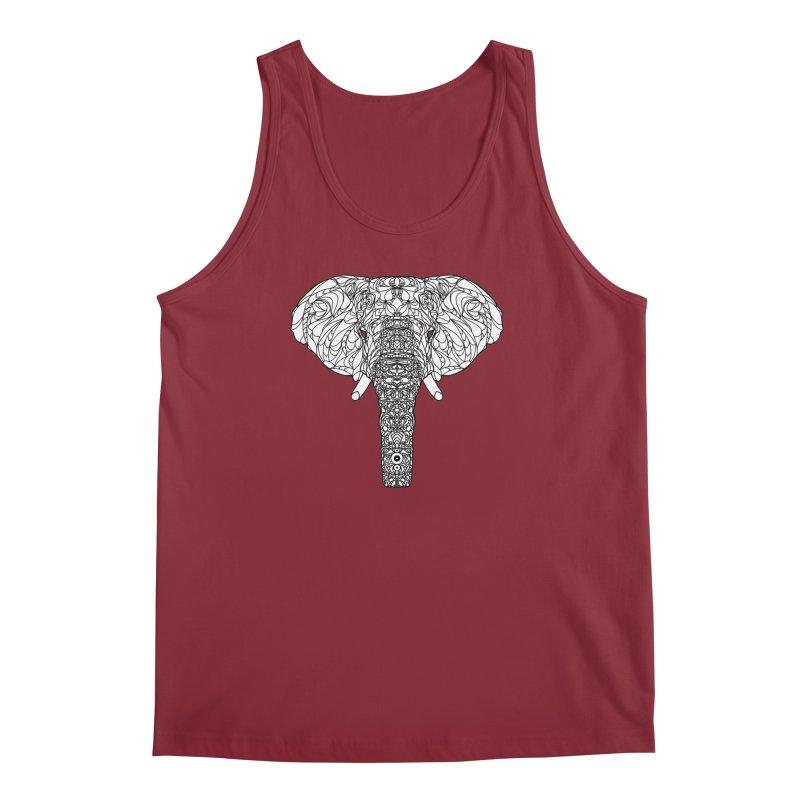 The Majestic Elephant Men's Tank by exiledesigns's Artist Shop