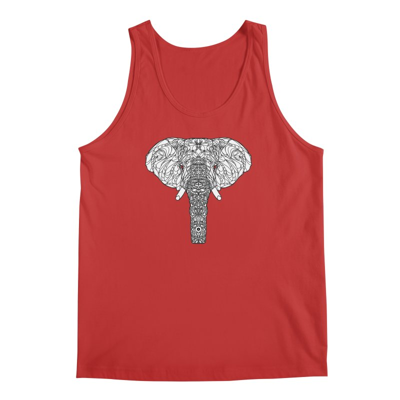The Majestic Elephant Men's Tank by exiledesigns's Artist Shop
