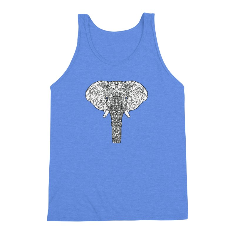 The Majestic Elephant Men's Triblend Tank by exiledesigns's Artist Shop