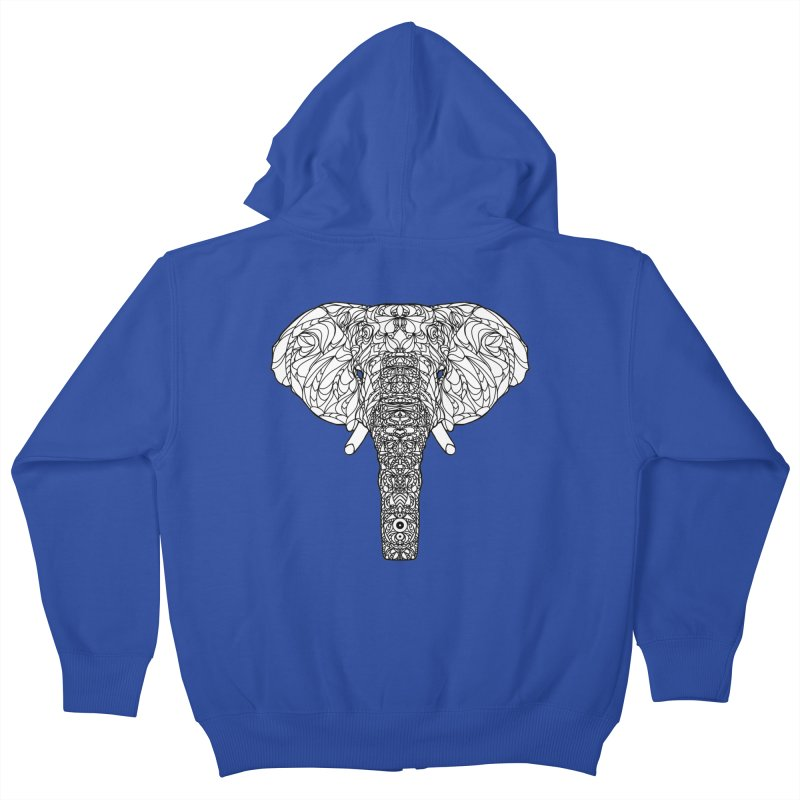 The Majestic Elephant Kids Zip-Up Hoody by exiledesigns's Artist Shop