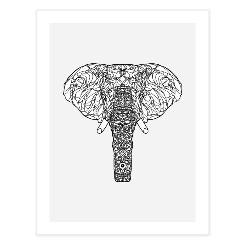 The Majestic Elephant Home Fine Art Print by exiledesigns's Artist Shop