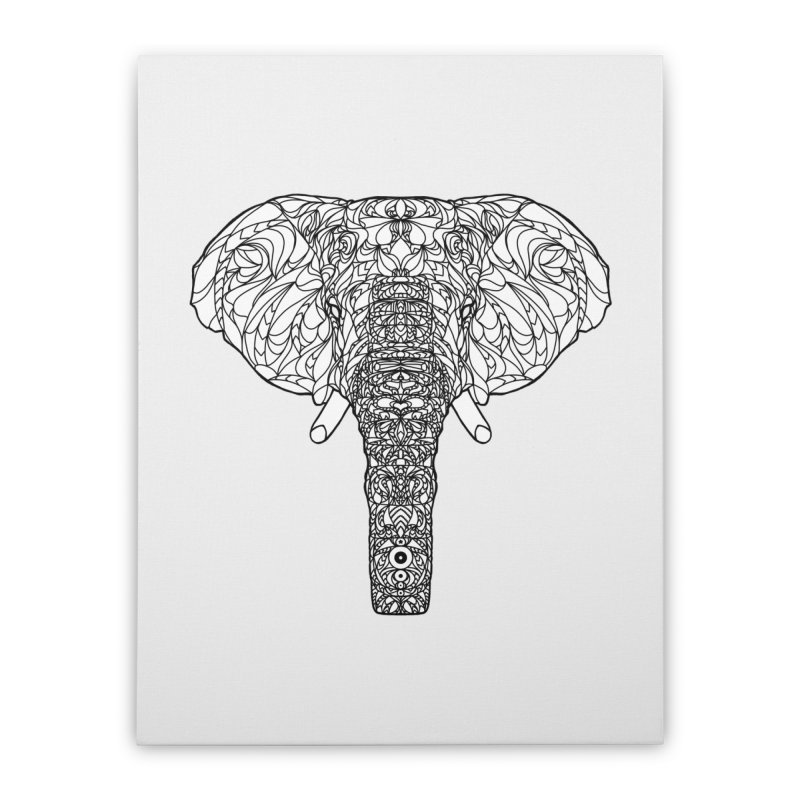 The Majestic Elephant Home Stretched Canvas by exiledesigns's Artist Shop