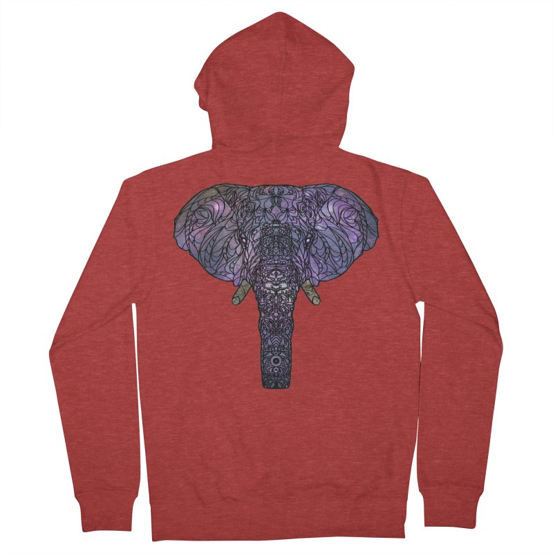 The 'Brilliant' Majestic Elephant  Men's French Terry Zip-Up Hoody by exiledesigns's Artist Shop