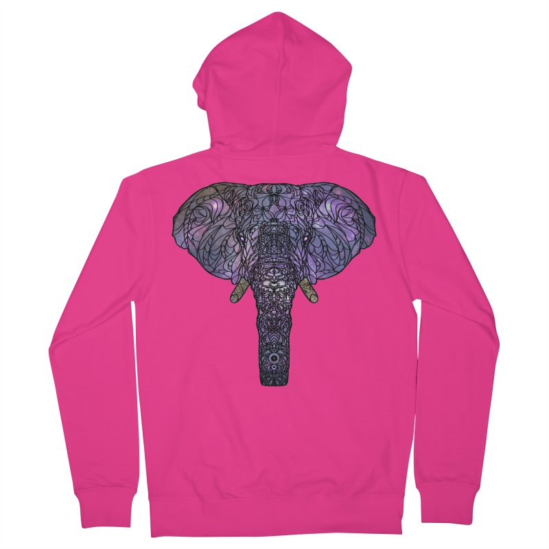 The 'Brilliant' Majestic Elephant  Men's Zip-Up Hoody by exiledesigns's Artist Shop