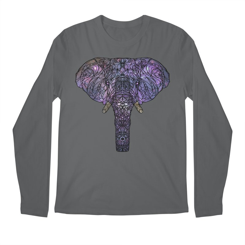 The 'Brilliant' Majestic Elephant  Men's Longsleeve T-Shirt by exiledesigns's Artist Shop