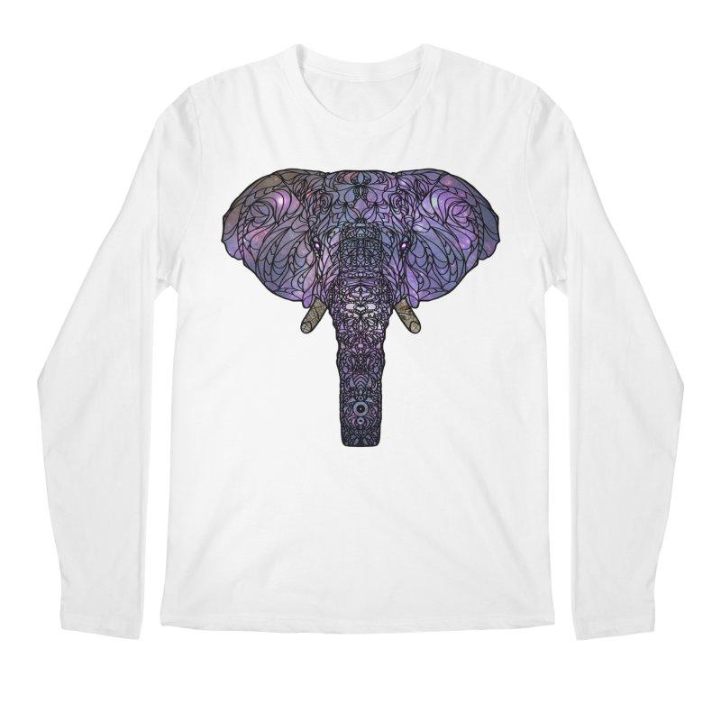 The 'Brilliant' Majestic Elephant  Men's Longsleeve T-Shirt by exiledesigns's Artist Shop