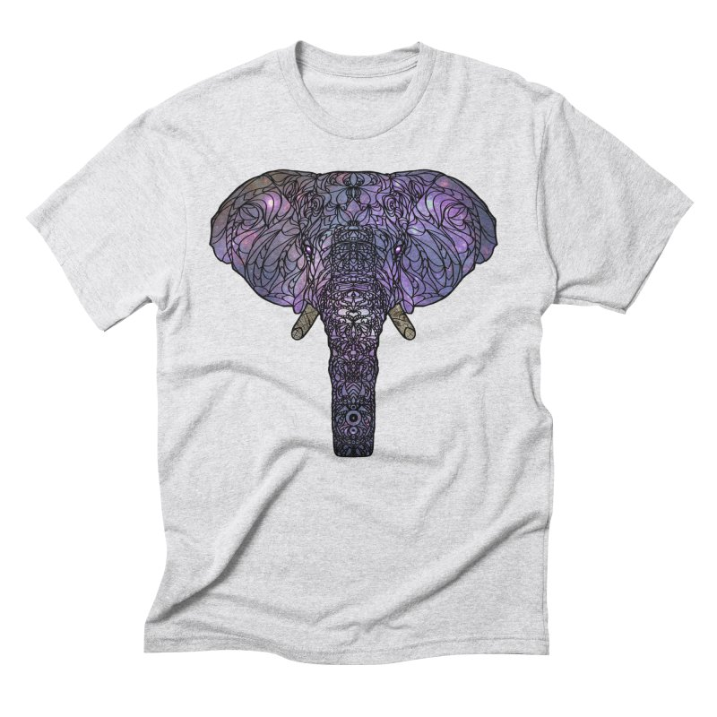 The 'Brilliant' Majestic Elephant  Men's Triblend T-shirt by exiledesigns's Artist Shop