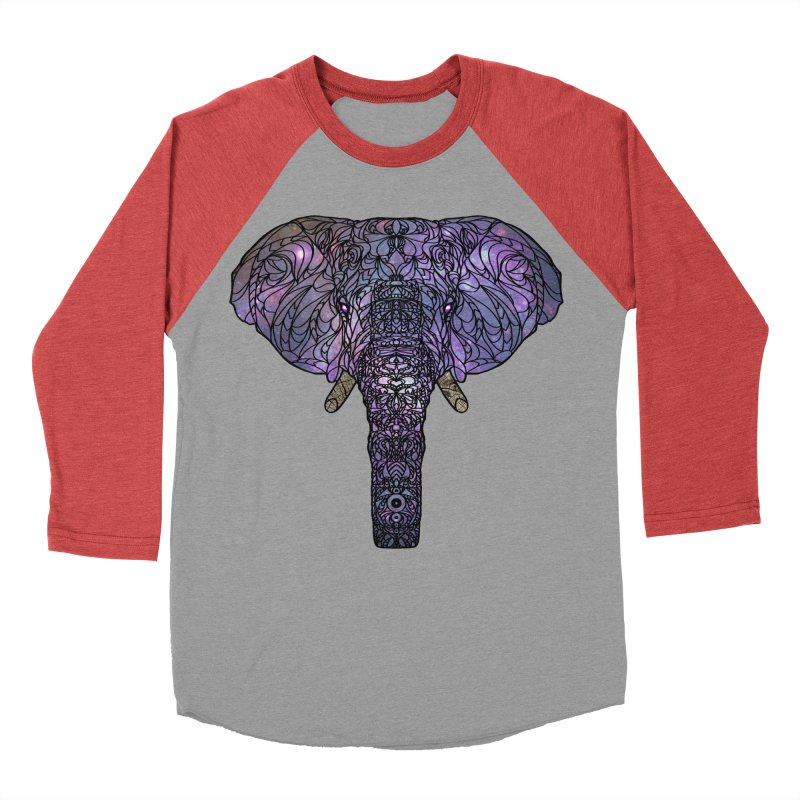 The 'Brilliant' Majestic Elephant  Women's Baseball Triblend T-Shirt by exiledesigns's Artist Shop