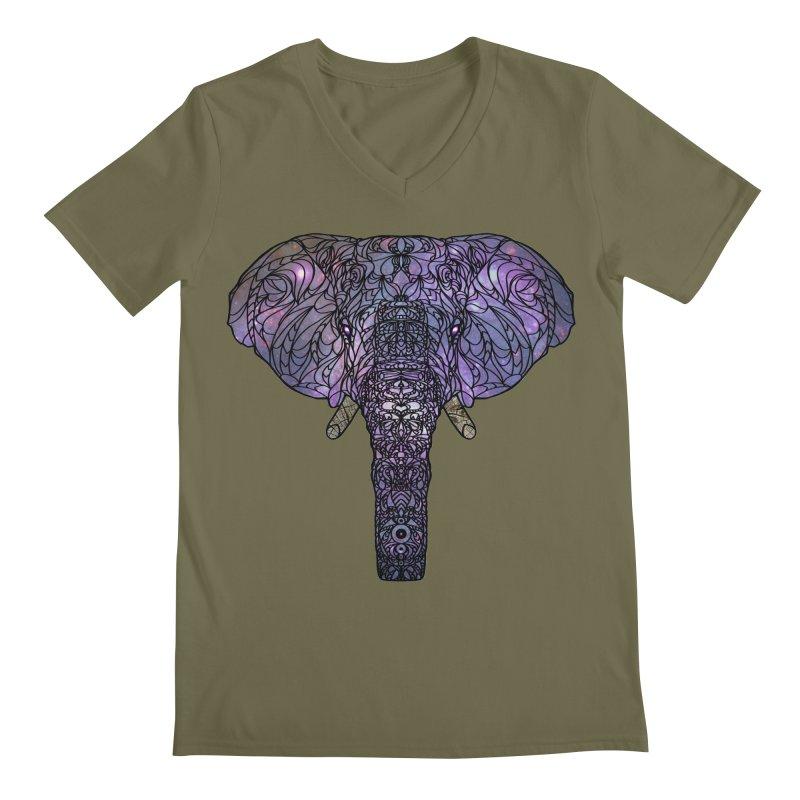 The 'Brilliant' Majestic Elephant  Men's V-Neck by exiledesigns's Artist Shop