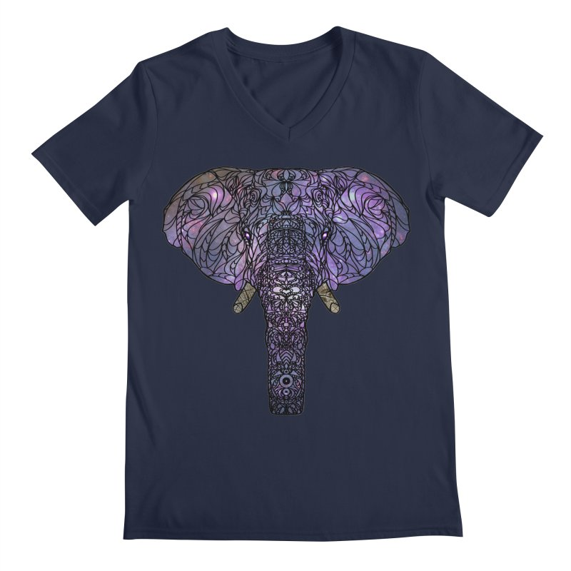 The 'Brilliant' Majestic Elephant  Men's V-Neck by exiledesigns's Artist Shop
