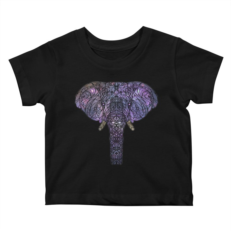 The 'Brilliant' Majestic Elephant  Kids Baby T-Shirt by exiledesigns's Artist Shop