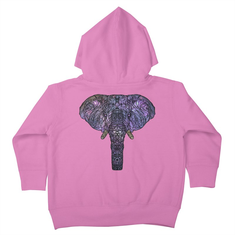 The 'Brilliant' Majestic Elephant  Kids Toddler Zip-Up Hoody by exiledesigns's Artist Shop