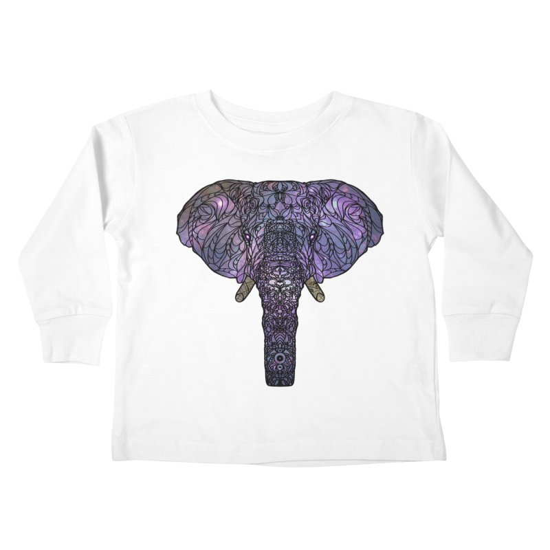 The 'Brilliant' Majestic Elephant  Kids Toddler Longsleeve T-Shirt by exiledesigns's Artist Shop