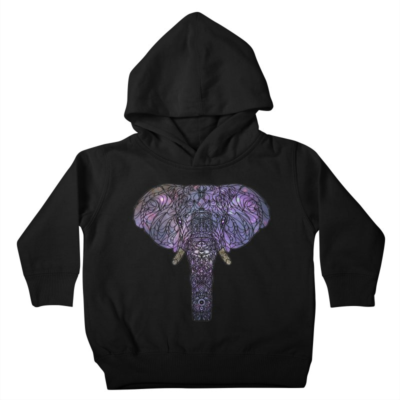 The 'Brilliant' Majestic Elephant  Kids Toddler Pullover Hoody by exiledesigns's Artist Shop