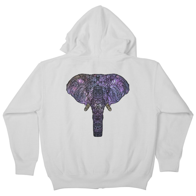 The 'Brilliant' Majestic Elephant  Kids Zip-Up Hoody by exiledesigns's Artist Shop