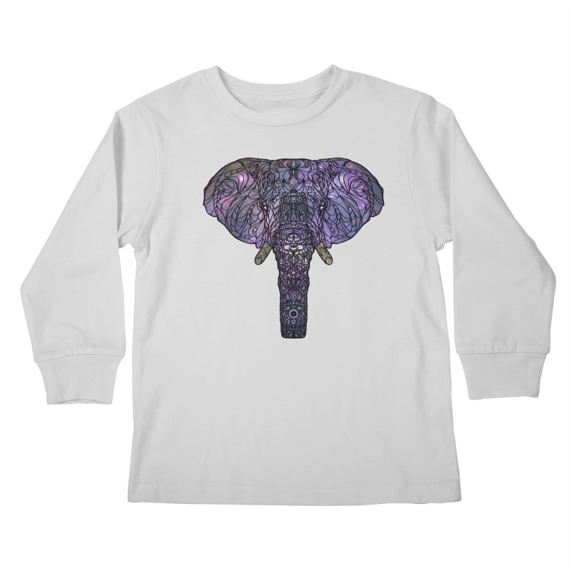 The 'Brilliant' Majestic Elephant  Kids Longsleeve T-Shirt by exiledesigns's Artist Shop
