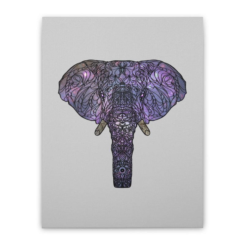The 'Brilliant' Majestic Elephant  Home Stretched Canvas by exiledesigns's Artist Shop