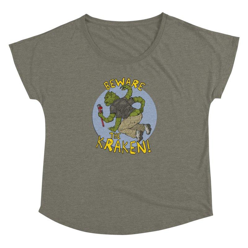 Beware the Kraken! Women's Dolman by ExistentialEgg's Menagerie of Wearable Junk