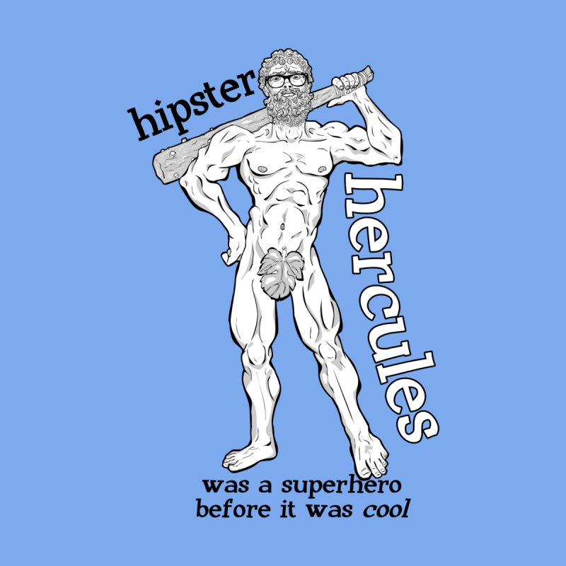 Hipster Hercules Men's Triblend T-Shirt by ExistentialEgg's Menagerie of Wearable Junk