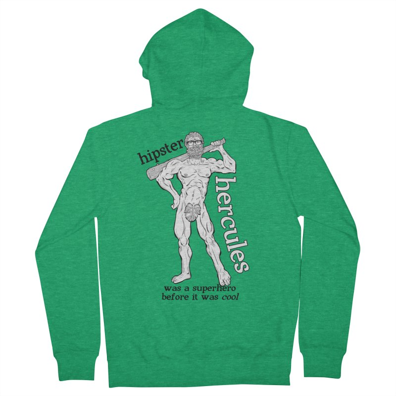 Hipster Hercules Women's French Terry Zip-Up Hoody by ExistentialEgg's Menagerie of Wearable Junk