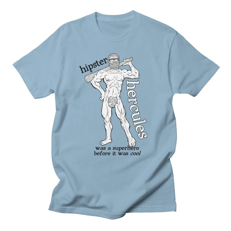 Hipster Hercules Men's T-Shirt by ExistentialEgg's Menagerie of Wearable Junk