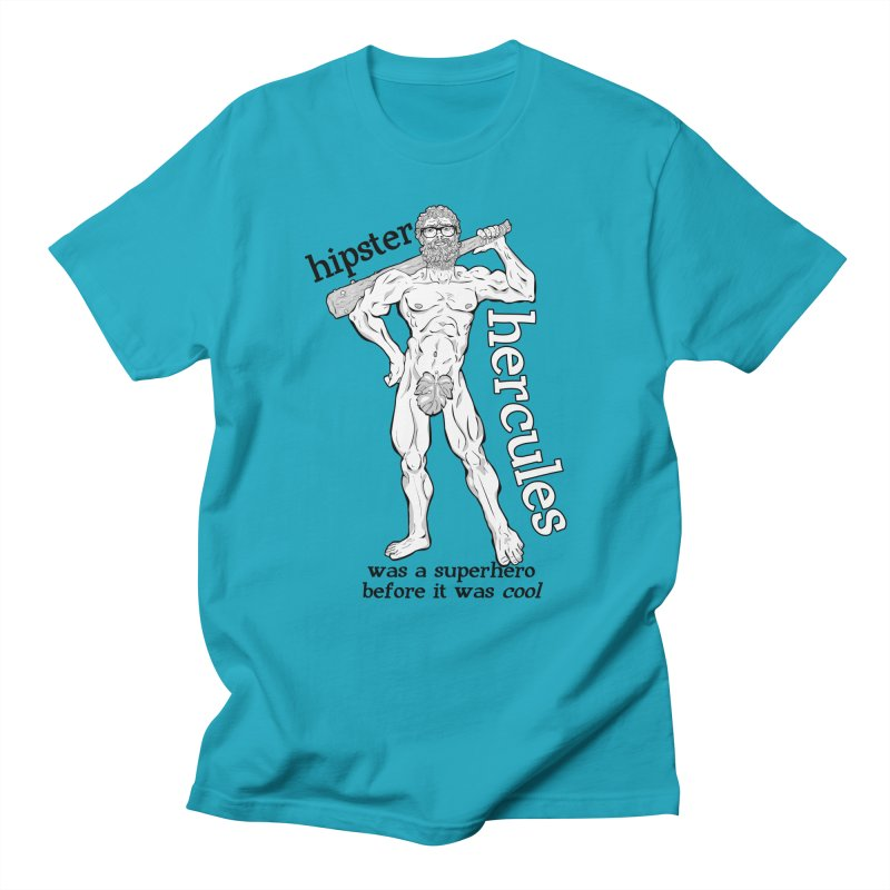 Hipster Hercules Men's Regular T-Shirt by ExistentialEgg's Menagerie of Wearable Junk