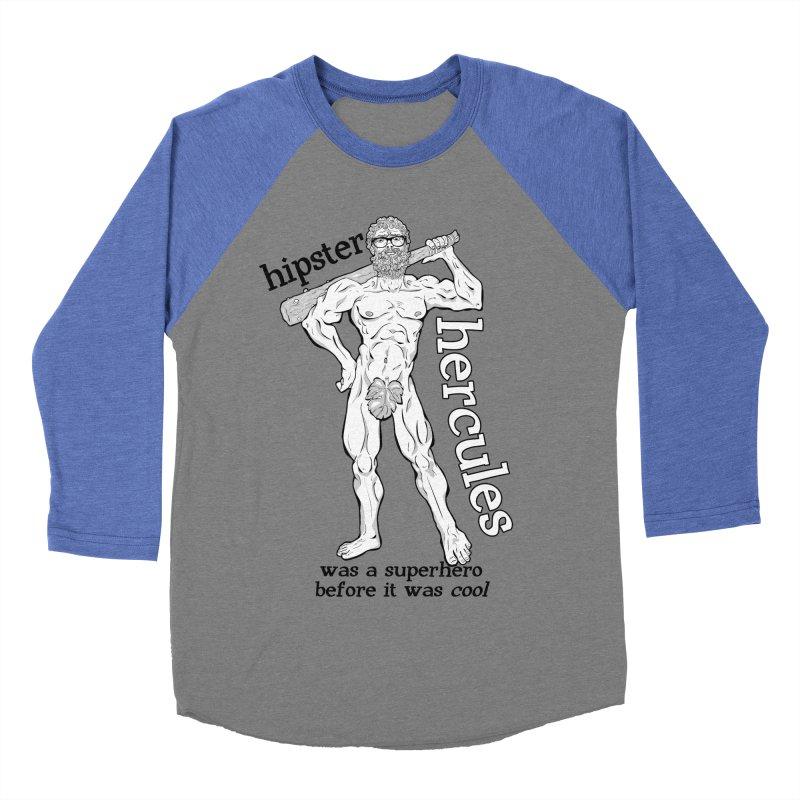 Hipster Hercules Women's Baseball Triblend Longsleeve T-Shirt by ExistentialEgg's Menagerie of Wearable Junk