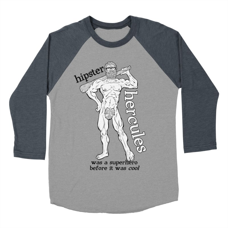 Hipster Hercules Women's Baseball Triblend T-Shirt by ExistentialEgg's Menagerie of Wearable Junk