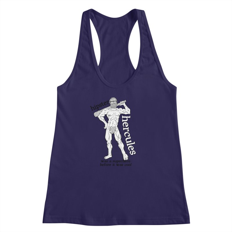 Hipster Hercules Women's Racerback Tank by ExistentialEgg's Menagerie of Wearable Junk