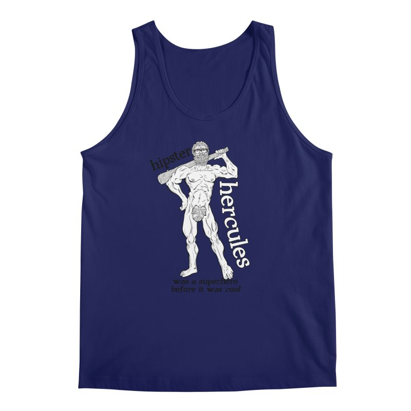 Hipster Hercules Men's Tank by ExistentialEgg's Menagerie of Wearable Junk