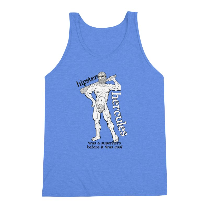 Hipster Hercules Men's Triblend Tank by ExistentialEgg's Menagerie of Wearable Junk