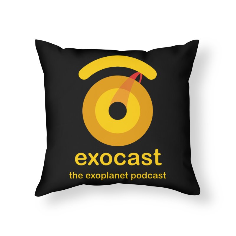 Exocast Podcast Logo Home Throw Pillow by exocast the exoplanet podcast store
