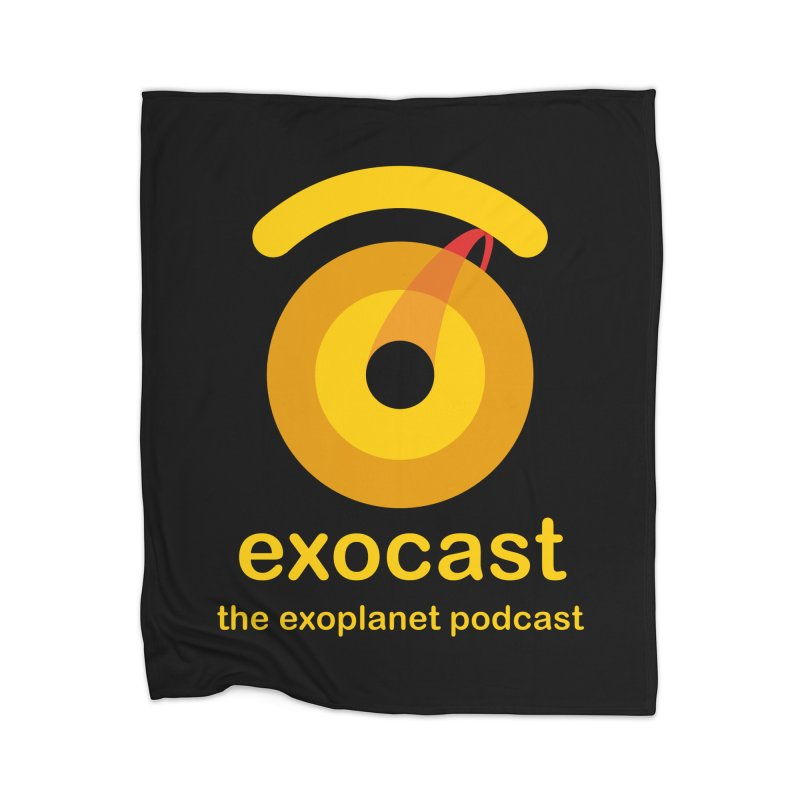 Exocast Podcast Logo Home Blanket by exocast the exoplanet podcast store