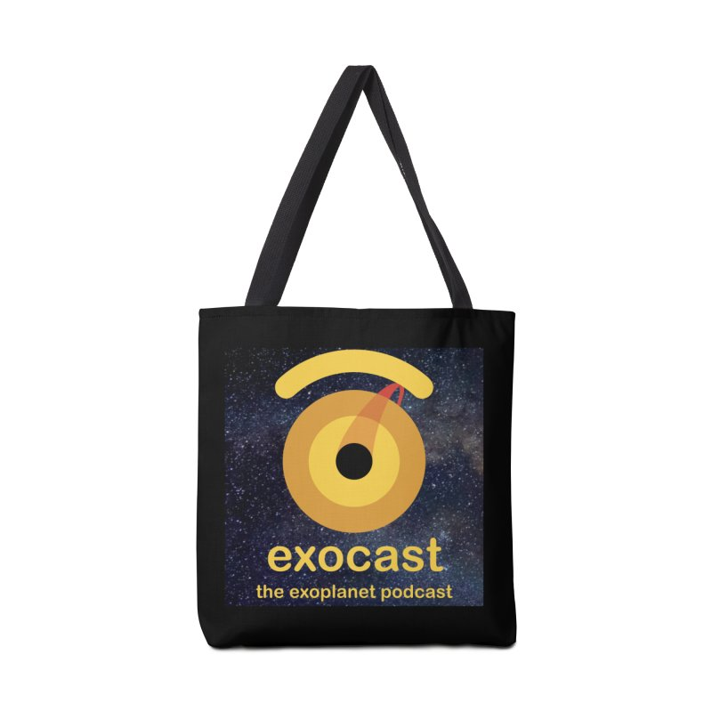 Exocast Logo and background Accessories Bag by exocast the exoplanet podcast store
