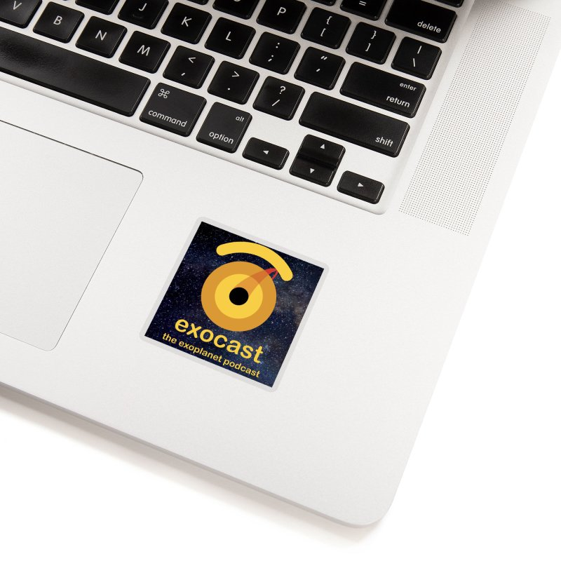 Exocast Logo and background Accessories Sticker by exocast the exoplanet podcast store