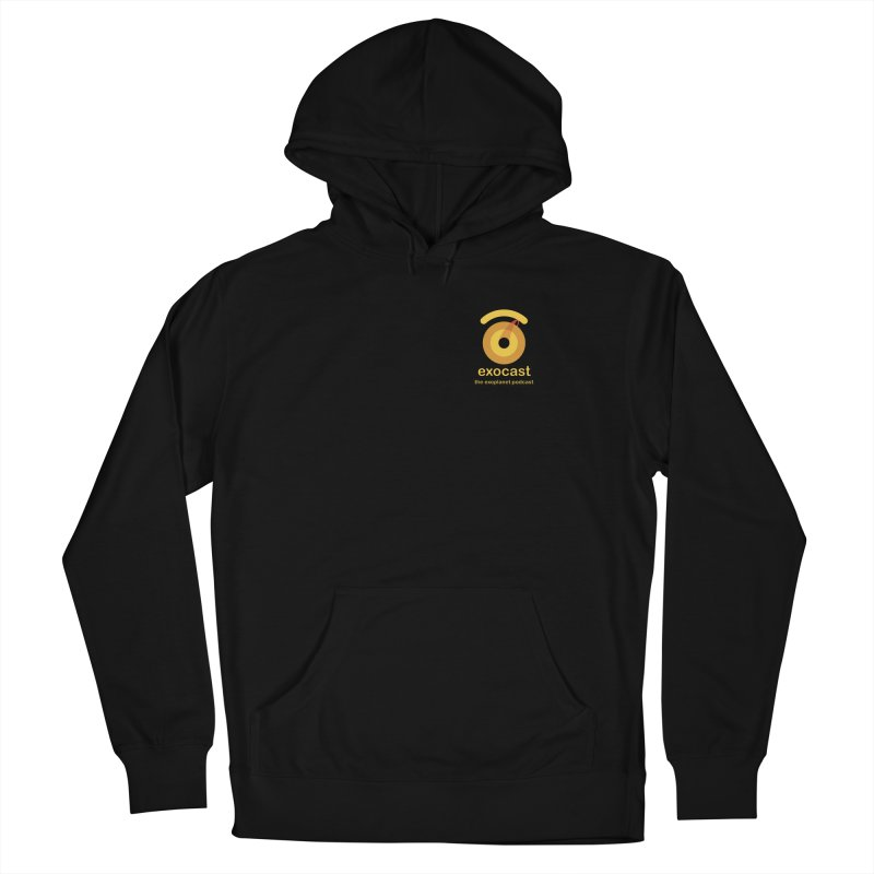 exocast small logo Men's Pullover Hoody by exocast the exoplanet podcast store