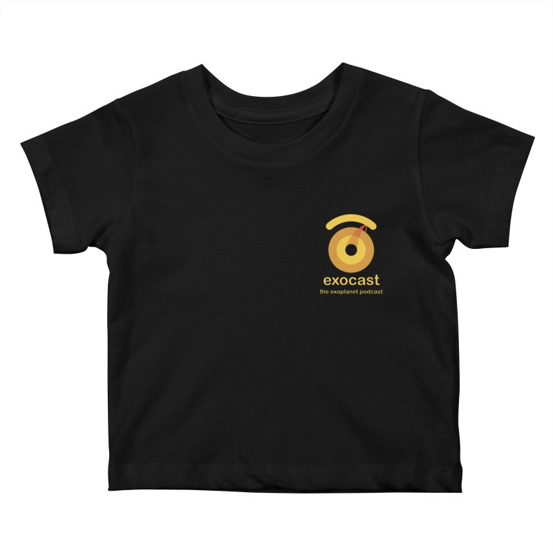 exocast small logo Kids Baby T-Shirt by exocast the exoplanet podcast store
